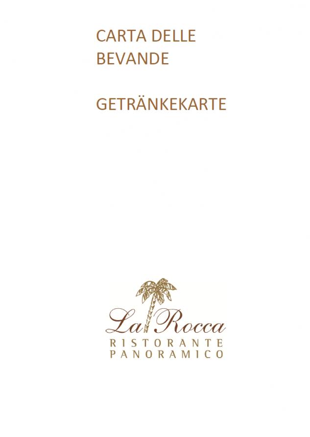 Carta bevande - Getränkekarte - Beverage Menu - Boissons menu - Ristorante Panoramico - Ronco sopra Ascona